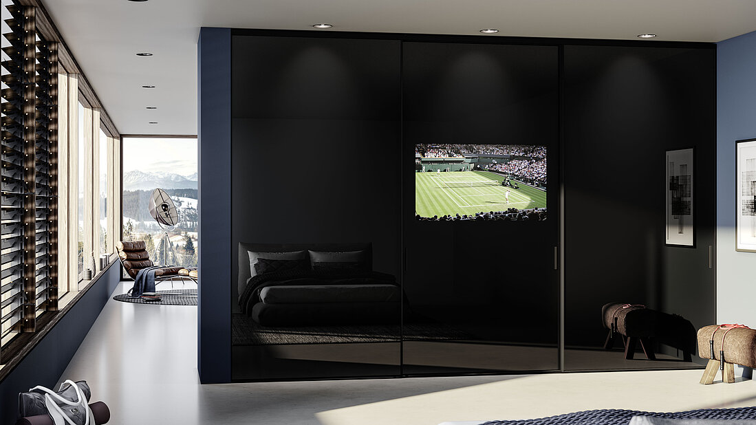 Sliding TV Door